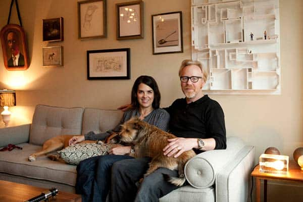 Image of Adam Savage with his wife Julia ward