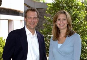Image of Stephanie Abrams with her ex-husband Mike Bettes