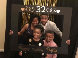 Image of Inky Johnson with his wife Allison Johnson and their kids