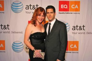 Image of Molly Ringwald with her husband Panio Gianopoulos