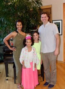 Image of Harris Faulkner with her husband and kids