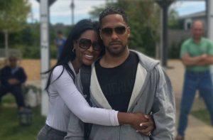Image of Kenya Moore with her husband Marc Daly